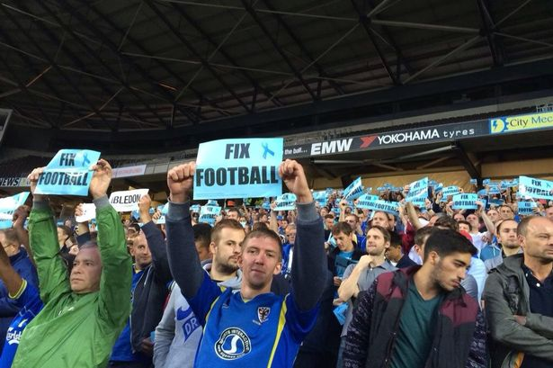 AFC wimbledon support coventry city