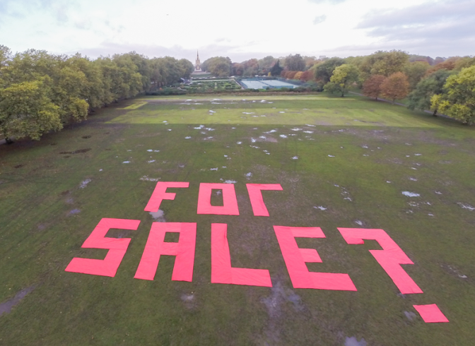 hydepark for sale protest