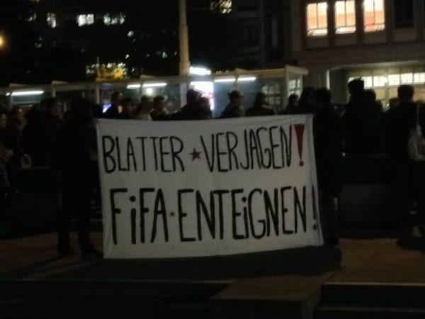 blatter protest zurich