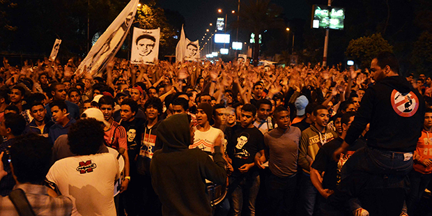 White Knights Zamalek club fans protests - YOUM7/Kareem Abdulkareem