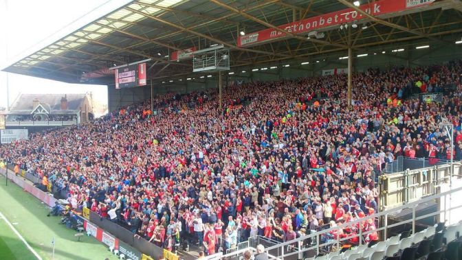Middlesborough fans@fulham 25apr15
