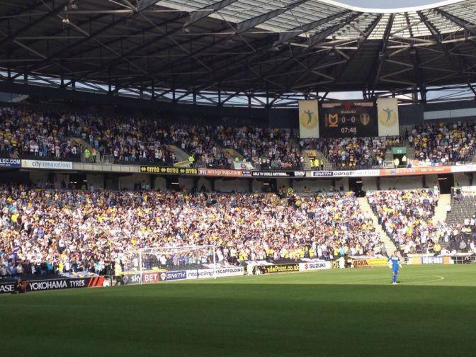 6,297 Leeds fans at MK Dons