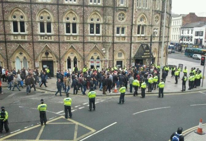 bristol city fans in cardiff 2013