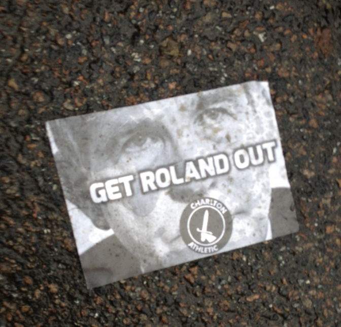 charlton roland out sticker