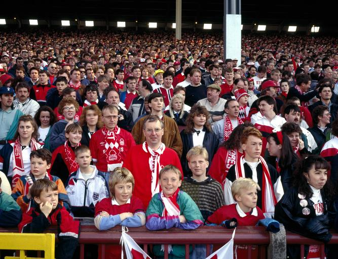 _0480 Crowd, Nottingham Forest at Aston Villa,England year1991 by Stuart Roy Clarke