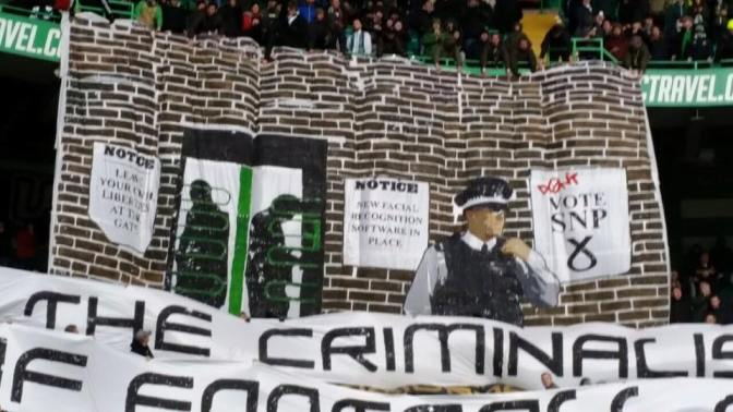 celtic fans banner