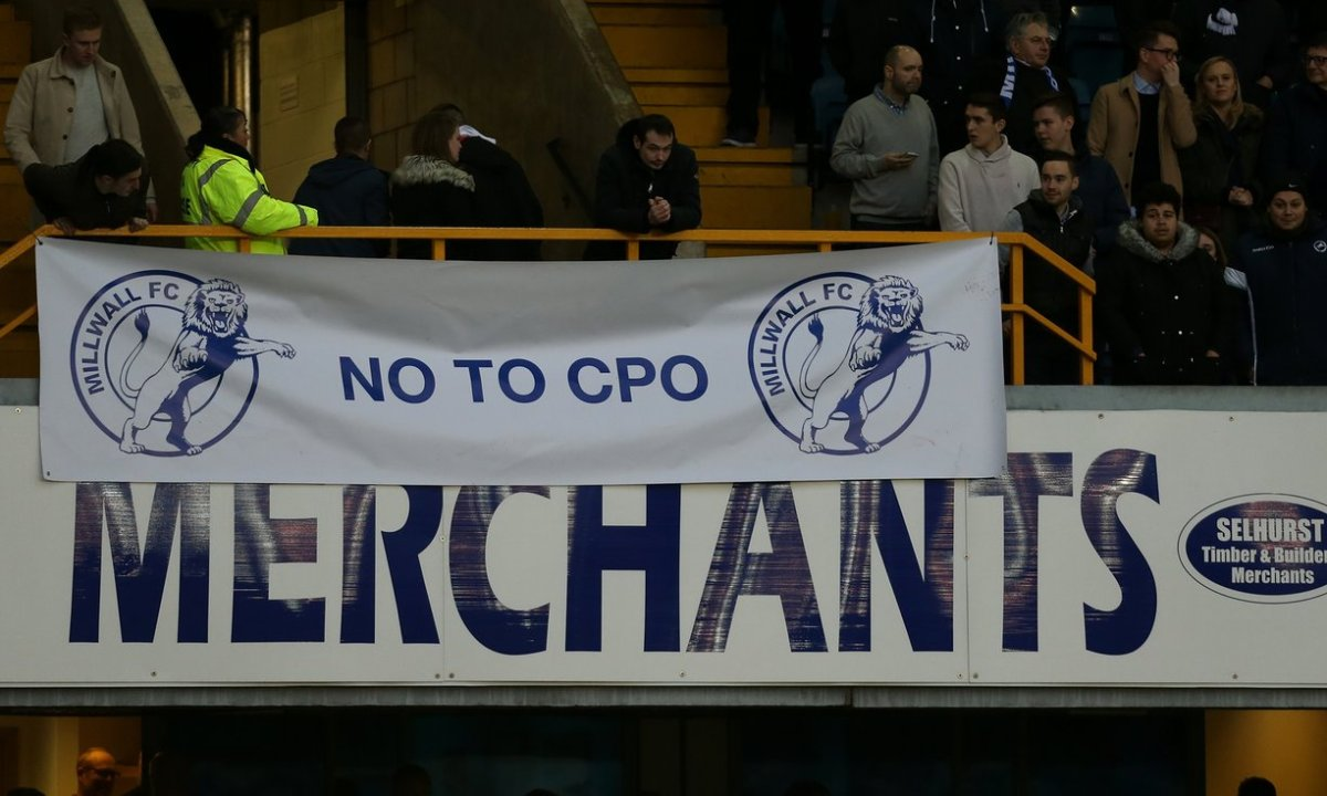 Banner of the week: Millwall, someone likes 'em - NO TO CPO